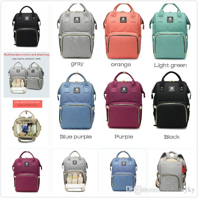 b316ff3e89be 2018 Diaper Backpack Insert Organizer Diaper Changing Bag Diaper Bags Mummy  Baby Bag Large Volume Outdoor Travel Bags Book Bags Herschel Backpacks From  ...