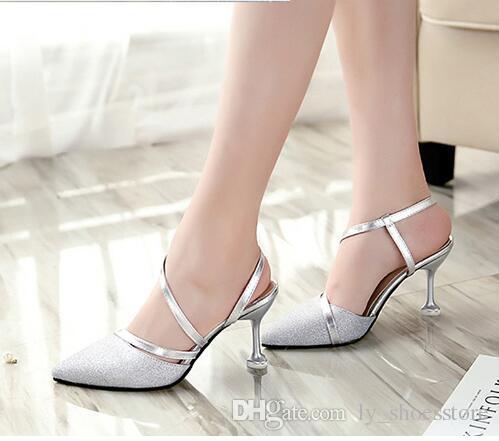 2018 Spring Heel High Heels Sandals Lady Pumps Classics Slip on ... c4c6048d5976