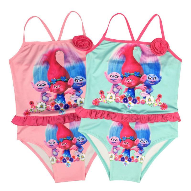 Principessa Troll Abbigliamento Bambini Nuoto Neonate Costume da bagno Bambini Estate Vestito da ragazza Costume da bagno Costumi da bagno bambini