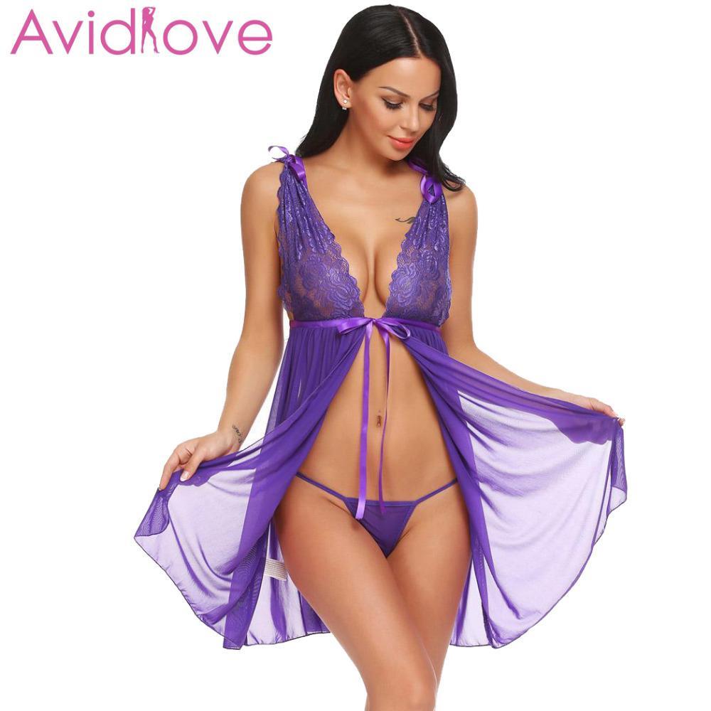 Exotische Damenbekleidung Frauen Sexy Dessous Kostüme Erotische Unterwäsche Babydoll Nachtwäsche Sexy Unterwäsche