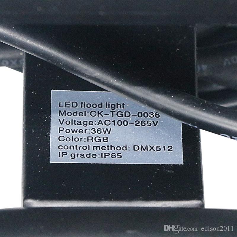 Edison2011 1 PZ Buidling Wall Wash 36W AC 85-265 V RGB Outdoor DMX512 Led Luce di inondazione DHL