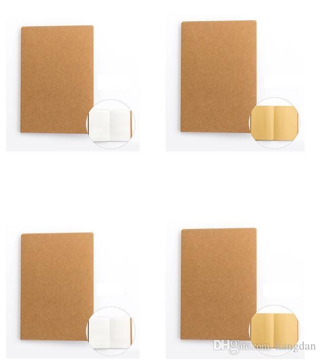 Vintage Kraft paper Graffiti Pocket Book Coprire a mano Coprire il blocco note Vuoto schizzo Notepad kraft Quaderno di pittura Quaderno di blocco note