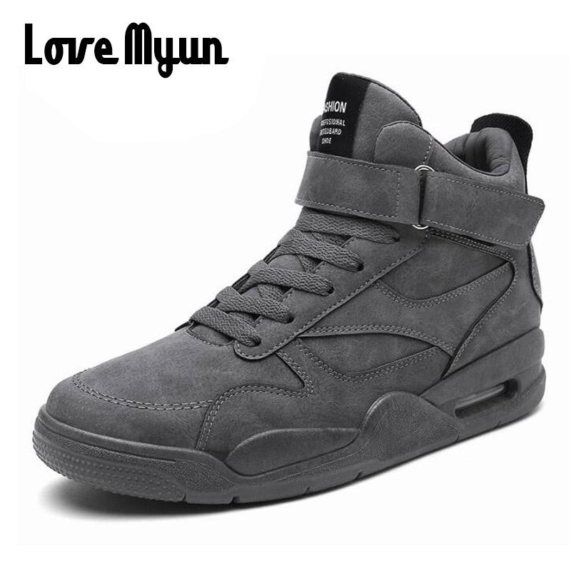 Men Outdoor Walking Sneakers Shoes Men Breathable Boots Hip Hop ... 17327169c459