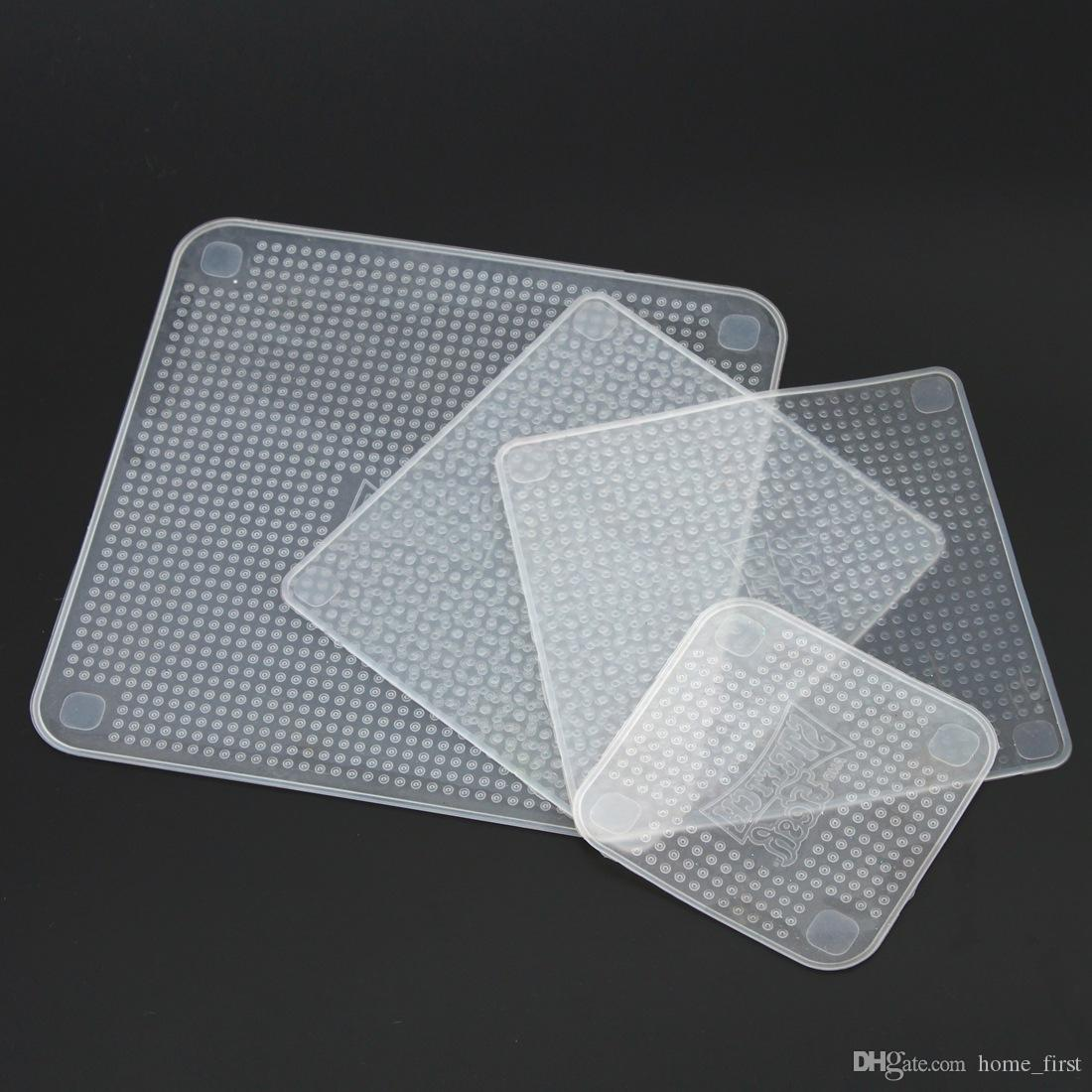 قابلة لإعادة الاستخدام مقاومة درجات الحرارة العالية متعددة الوظائف سيليكون الغذاء الأغطية ختم غطاء تمتد تتشبث فيلم حفظ الطازجة / set