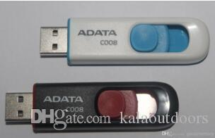 ADATA DashDrive C008 128 GB 256 GB 64 GB ADATA Memoria USB UV100 Blu rimovibile Cap USB 2.0 Flash Drive Sticks