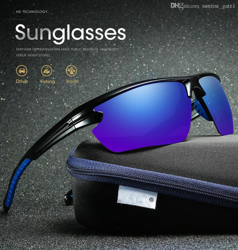 fc825f45255 Free Trial SA8011 New HD Polarized Coating Sunglasses Outdoor Riding Mirror Sports  Glasses Wholesale Online Eyeglasses Discount Sunglasses From ...
