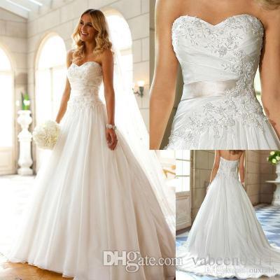 compre nuevo vestido de novia blanco noble europeo / tubo superior