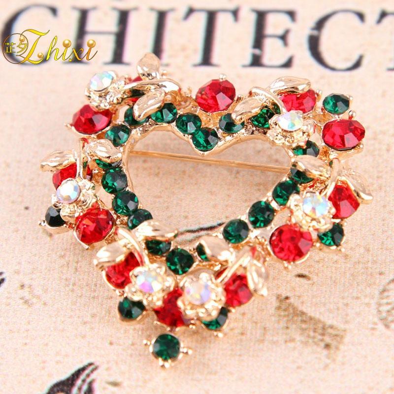 8c2e4b12014 ZHIXI Simple And Stylish Brooch Fine Jewelry Brand Luxury Shiny ...