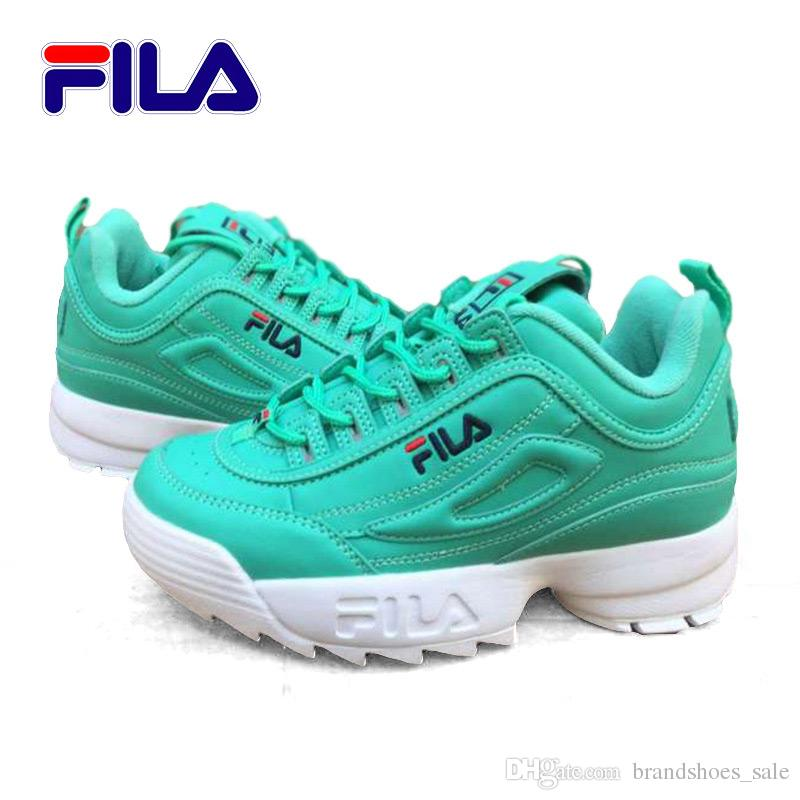 Acheter FILA Chaussures Blanc Jade II Nouvelle Tendance Classique Baskets  Sport Baskets Mode Baskets Respirant Femme Argent Blanc Augmenter 36 41 De  $99.5