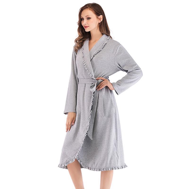 772f037c79 Women Nightwear Winter Autumn Sleepwear Casual Bathrobe Belt Elegant Bathroom  Robe Robes Cheap Robes Women Nightwear Winter Autumn Sleepwear Online with  ...