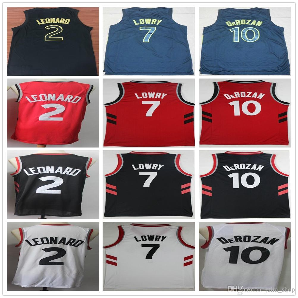 ... purchase 2018 wholesale 2 kawhi leonard jersey white red black city  edtion 10 demar derozan 7 a351186fa