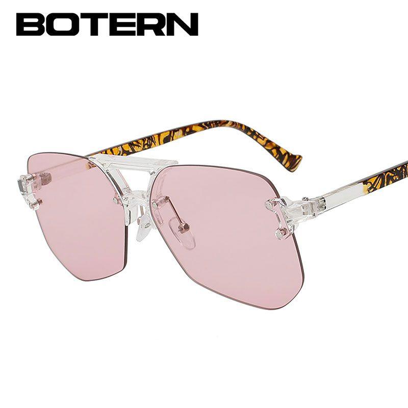 Compre Gafas De Sol De Gran Tamaño Sin Montura Mujeres Hombres ...