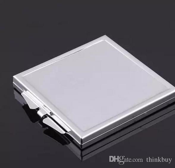 Metal Square Compact Mirror Blank Makeup Mirror with Bezel Silver bb355-362 2018012206