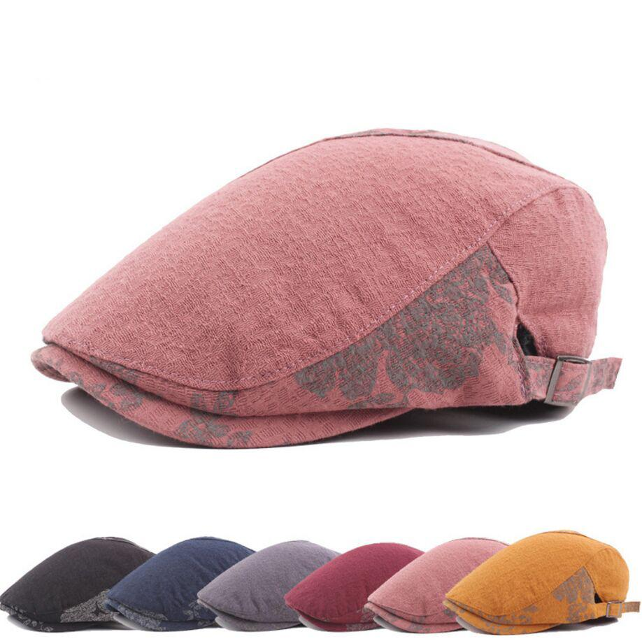 1681444ca994a 2pcs/lot Cotton Women Newsboy Caps Soft Beret Flat Cap Driver Retro Vintage  Soft Boina Casual Baker Cabbie Hat