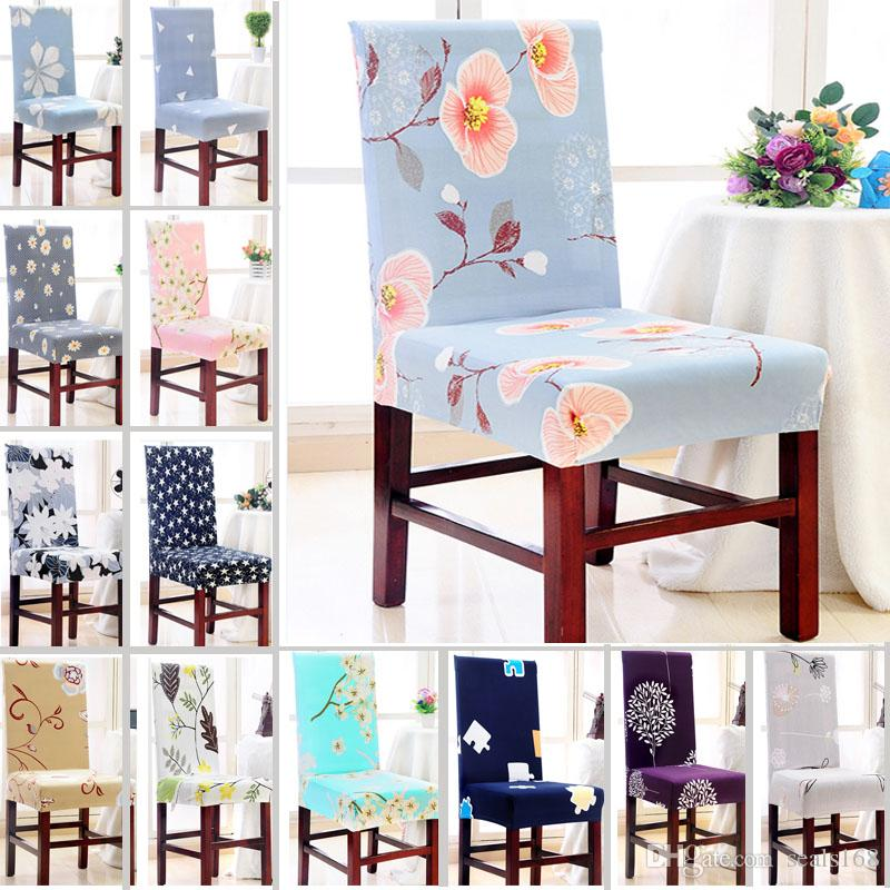 Chair Cover Removable Washable Elastic Stretch Slipcovers Dining Room Seat Protector For Banquet Wedding Party HH7 1214 And Ottoman