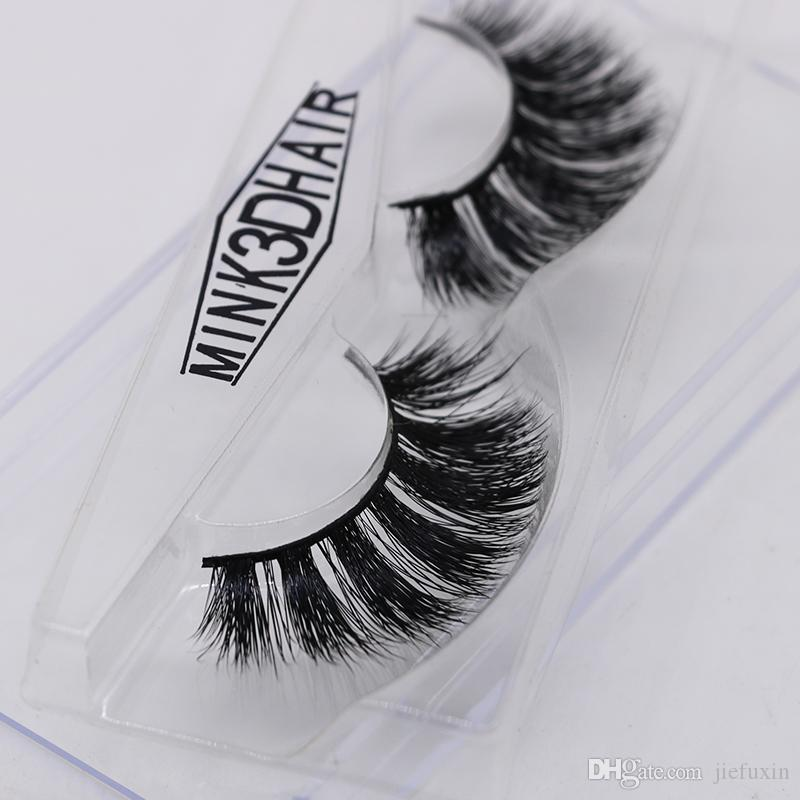 eb44ba47534 JIEFUXIN Mink Eyelashes 3D Mink Lashes Thick HandMade Full Strip False  Eyelashes Cruelty Free Korean Mink Lashes 9 Style JFX H42 Eyelash Extension  Training ...