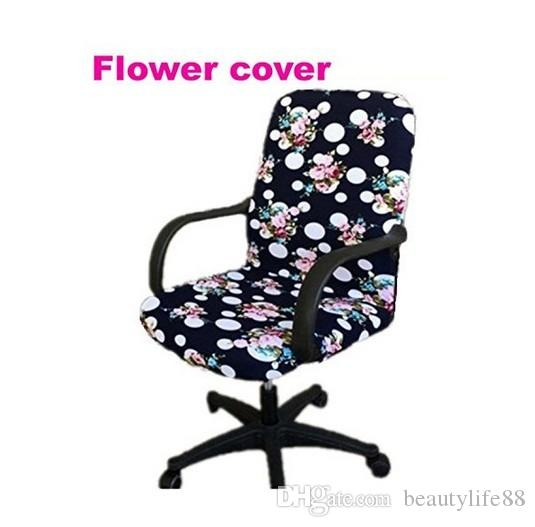 office Computer chair cover side zipper design arm chair cover recouvre chaise stretch rotating lift chair cover Large size