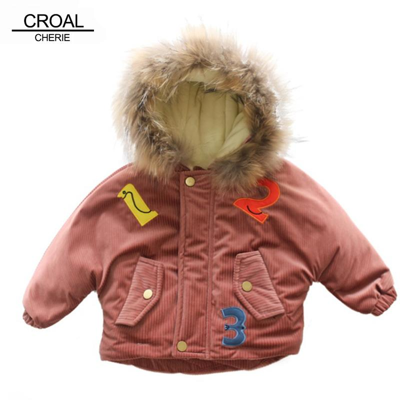 11608e867ae5 CROAL CHERIE Kids Baby Girls Winter Coat Thicken Boys Winter Jacket ...