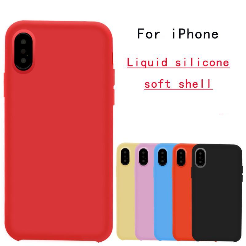 b2fe62412b7 Étui Téléphone Portable Pour IPhone XR Silicone Liquide Téléphone Shell Site  Officiel Officiel Couleur Unie Pour Apple XS Max Accessoires De Téléphone  ...