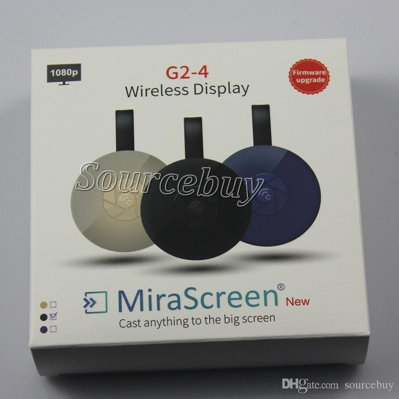 Lettore multimediale con lettore multimediale HDMI adattatore dongle Mirascreen G2-4 Mini PC Android TV stick Supporto 1080P HD AirPlay DLNA Miracast