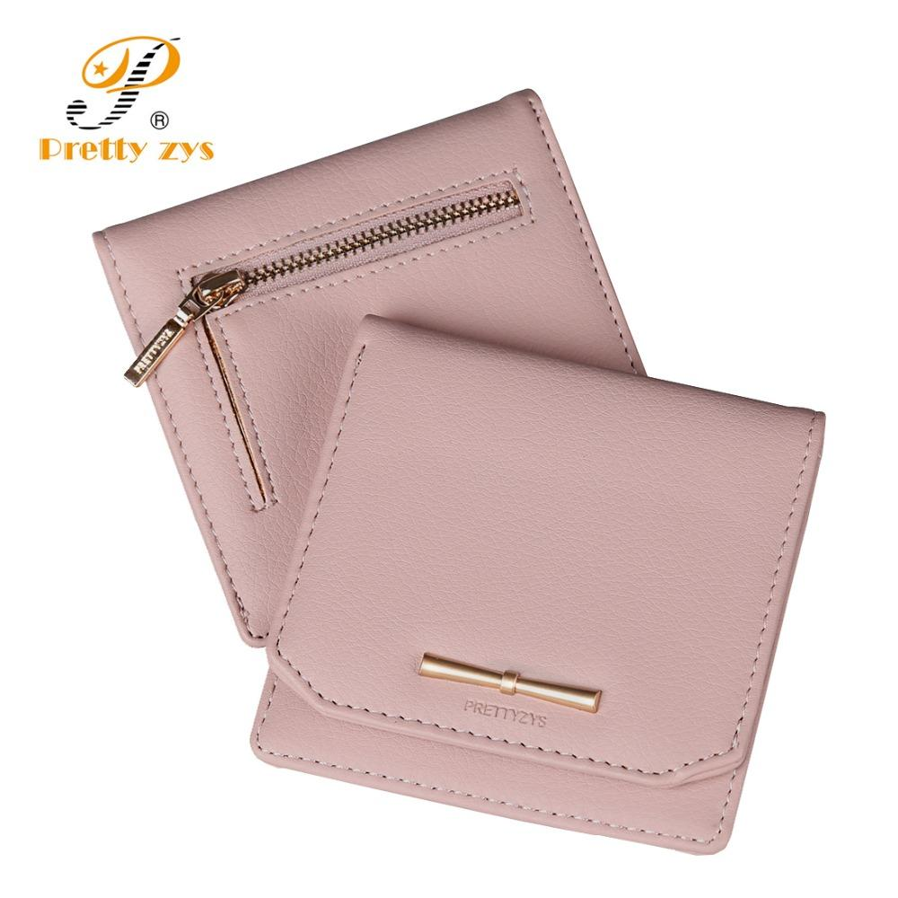 Prettyzys Women Lovely Short Wallet Leather Zipper Slim Mini Coin Purse  Hasp Female Fashion Lady Portable Small Bowknot For Girl Luxury Wallets  Flat Wallet ... 04327885a0c6
