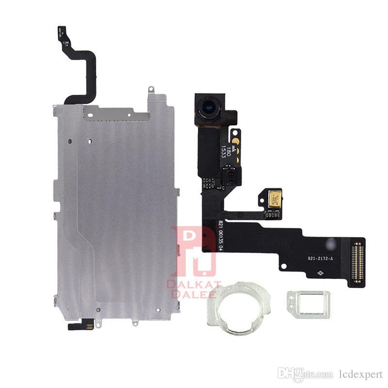 "For iphone 6 LCD Repair Parts Metal Plate Front Camera Set Screws Earpiece home button Flex Full Set Repair Parts 6g 4.7"""