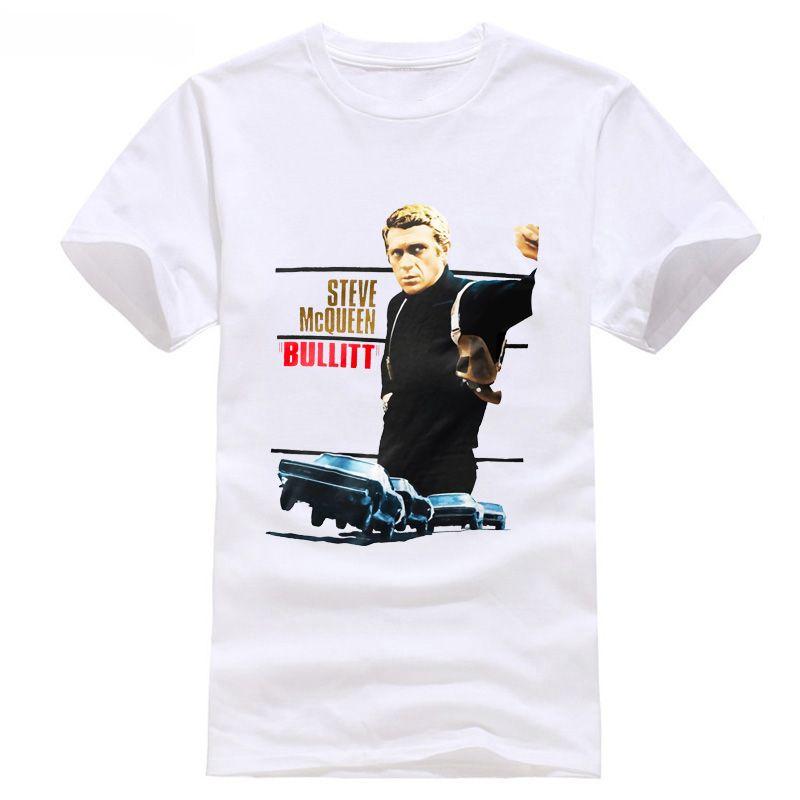 9ed53f9959 Compre Bullitt Camiseta Steve McQueen Tee Ícone Legend Vintage Rare Moto  Escape Filme Xxxtentacion Cool Tshirt De Qz710418820