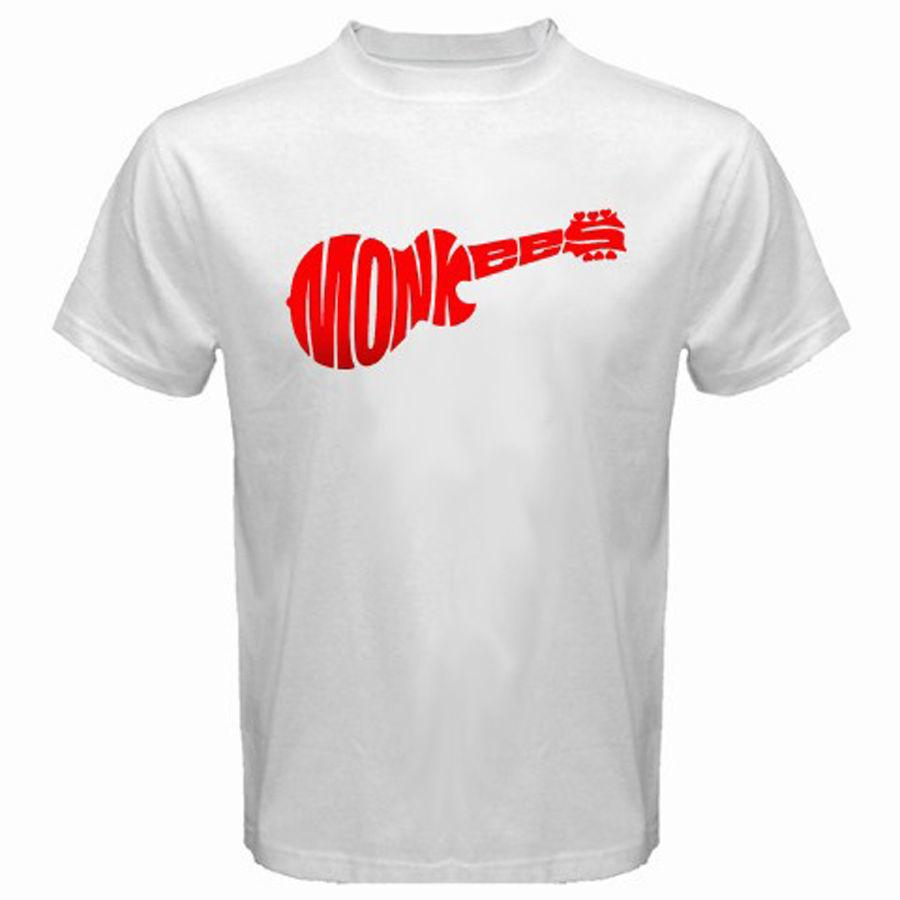 Novità THE MONKEES Logo Rock Band Music Legend T-shirt bianca da uomo Taglie dalla S alla T-Shirt 3XL Uomo estate Personalizza Tee Shirts