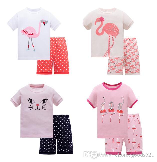 6602a4c2b Baby Pajamas Summer Baby Gir Pajamas Short Sleeve Cotton Pajamas ...