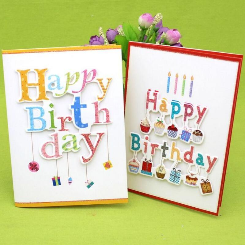 10 Pcs Lot 3D Folding Music Cards Handmade Birthday Greeting Card With Envelope Happy Gift To Friend Free Shipping
