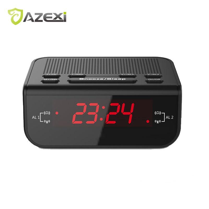 Attrayant Azexi Classic Style Tabletop Digital Alarm Clock Radio Dual Alarm Buzzer  Snooze Sleep Function Fm Radio Red Led Time Display Music World Series  Radio From ...