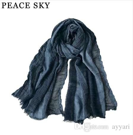 5e13bcabd62 Superbig Japanese Style Winter Scarf Cotton And Linen Striped Plaid Bubble  long women's scarves shawl fashion men scarf
