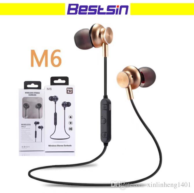 Casque Audio Avec Micro Bonne Qualité M6 Casque Bluetooth Bluetooth