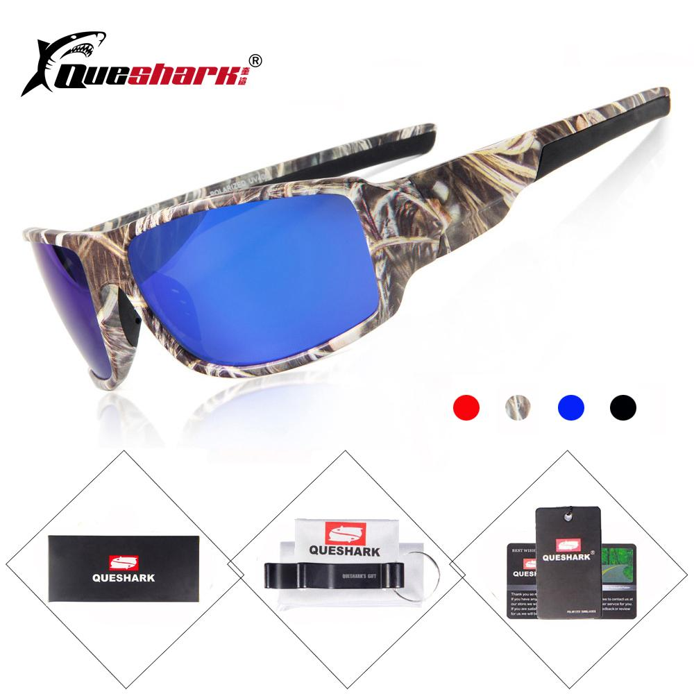 4653185a793 QUESHARK Camouflage Cycling Polarized Sunglasses Mountain Road Bike ...