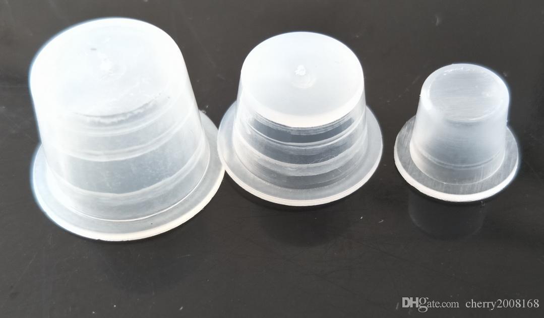 タトゥーインクキャップ小売新着タトゥーの供給600新しいプラスチック製のタトゥーインクカップ/インク帽子は300s + 200m + 100l