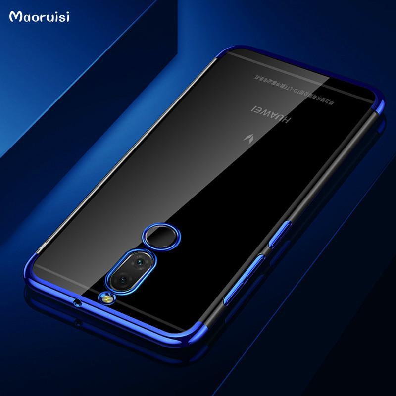Case For Huawei Mate 10 Lite Case Luxury Laser Plating Transparent Soft  Clear Back Cover For Huawei Nova 2i Nova2i Phone bags