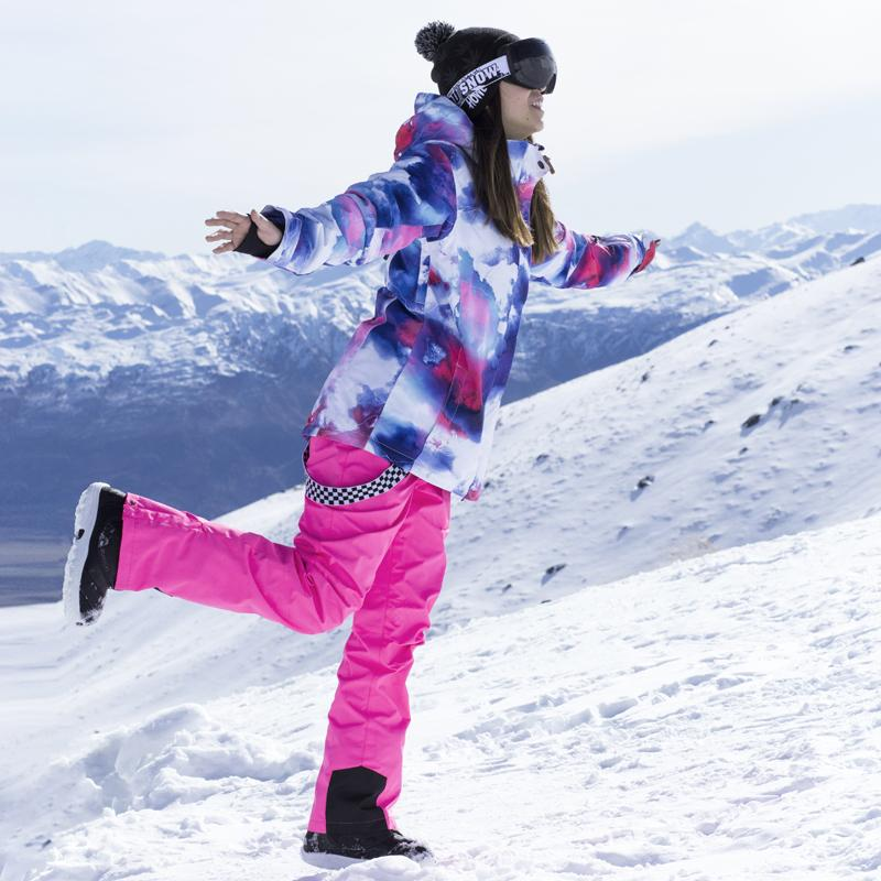 bec17d1527 Winter Ski Suit Women Brands 2018 High Quality Ski Jacket And Pants Snow  Warm Waterproof Windproof Skiing And Snowboarding Suits UK 2019 From  Mtaiyang