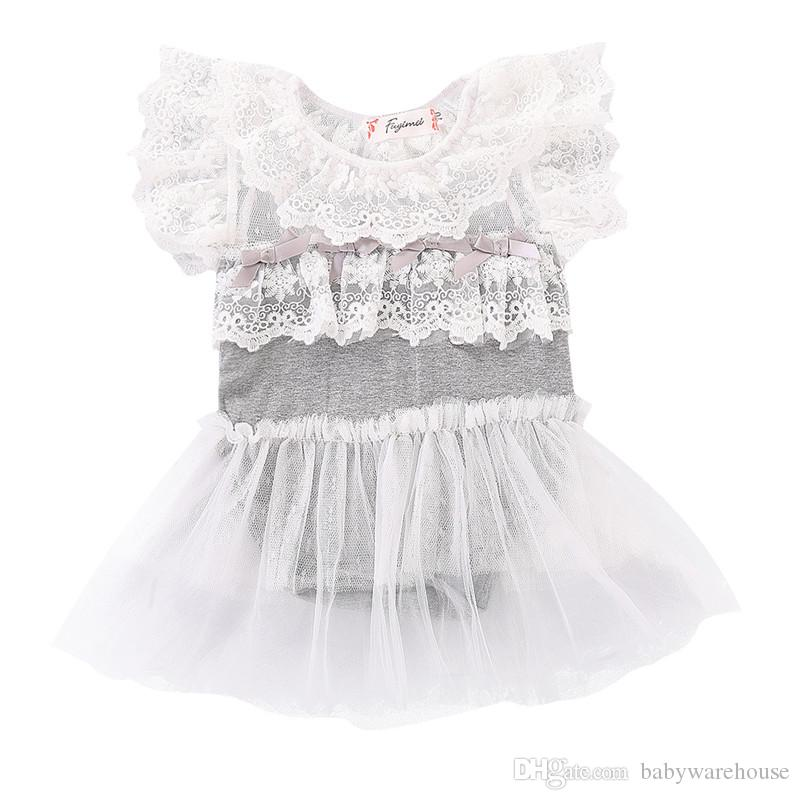 406ca98a6fa7 2019 Newborn Baby Girl Clothes Infant Clothing Lace Ruffle Romper ...