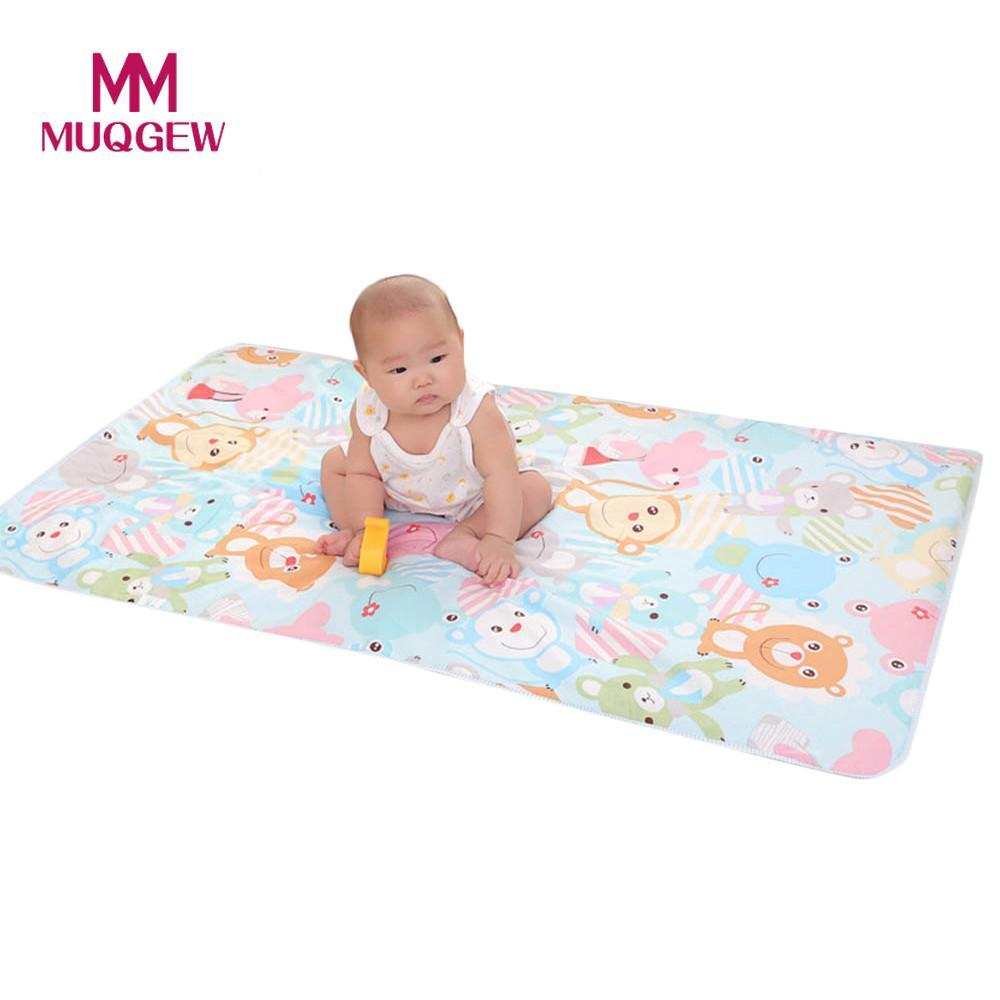 6a005bda883 2019 Newborn Baby Waterproof Pad 3 Layer Sandwiched Cotton Baby Urine Mat  Diaper Travel Changing Nappy Pad Portable Protector Bed From Ouronlinelife