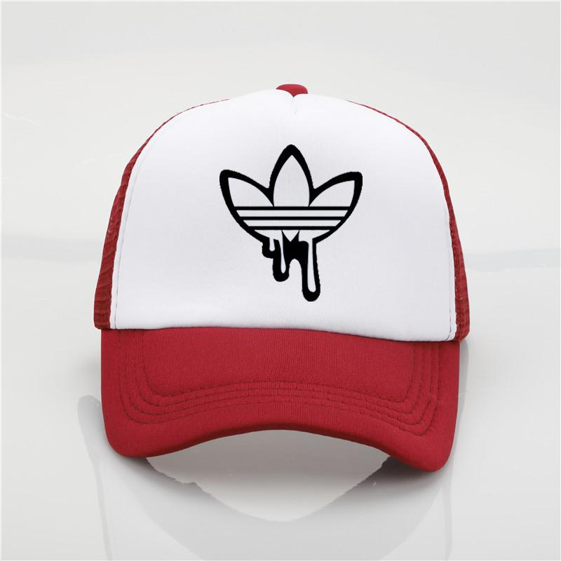 7b4838fb 2018new Hat Fashion Doodle Print ADI Net Cap Baseball Cap Men And ...