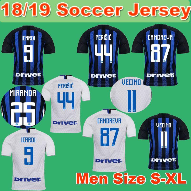 5a26c7f80 2019 18 19 Milan Soccer Jersey 2018 2019 ICARDI Home Away Jerseys CANDREVA  Football Kit BROZOVIC EDER Shirts Serie A League Uniform From Backjerseys
