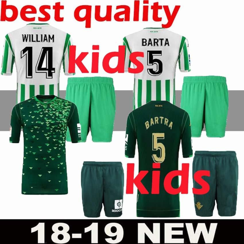 75676920db 1819 Real Betis Kids Soccer Jersey 1819 Real Betis JOAQUÍN SERGIO ...