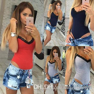 2019 Women Sexy V Neck A Body Lace Sleeveless Bodysuit Overalls Onesie Da  Club Jumpsuit Woman Female Clothes From Xuqiuxiang3 4f1d4d669d8