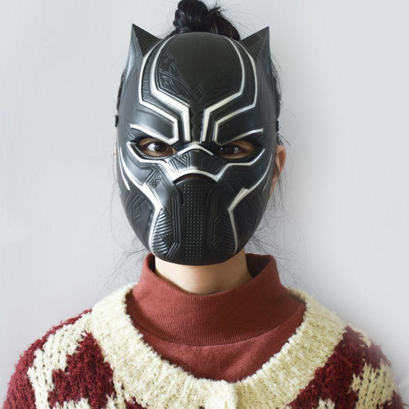 Masques panthère noire cosplay film Quatre cosplay Party latex hommes mascarade masque pour Halloween Décoration de Noël WX9-639