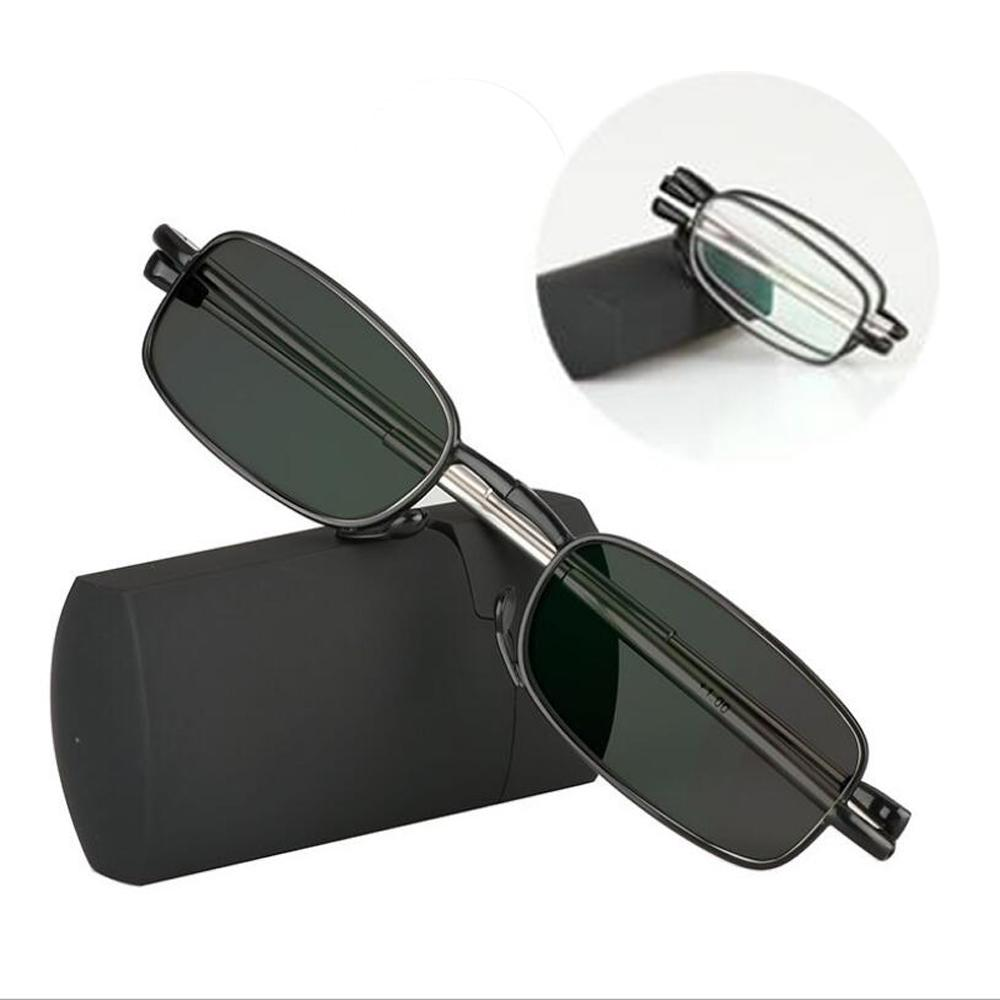 01ddeb1ac27f Transition Photochromic Folding Reading Glasses Mini Pocket Reader With  Case Farsighted Foldable UV400 Sunglasses +1.0 To +3.0 Tinted Computer  Reading ...