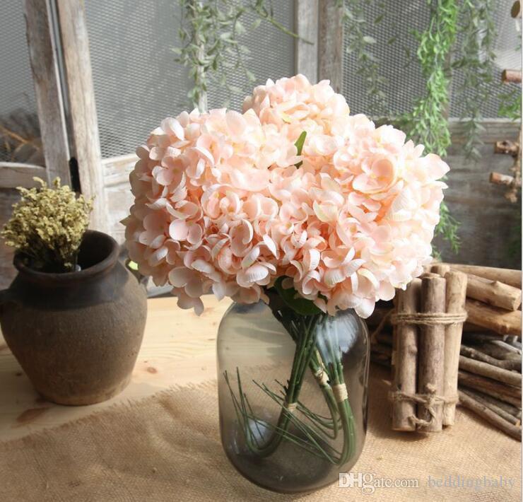 Compre Flores Falsificadas Bolas De Flores Verde Azul Hortênsias Cores Elegantes Presentes Para Centrais De Casamento Varanda Dinning Restaurante Flor