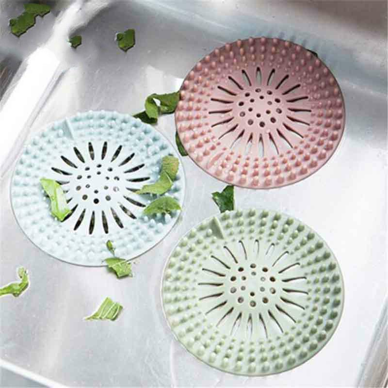 2018 Silicone Bath Kitchen Sink Strainer Filter Drain Strainer Hair Stopper Floor Flower Shape Drain Sink