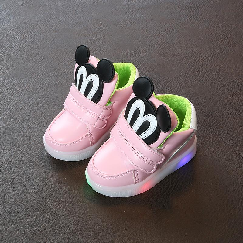 b5ef8aead154 2018 Cartoon 1 To 5 Years Old Baby Boys And Girls Sports Shoes Led Lights  Infant Casual Shoes High Quality Newborn Short Boots Best Running Shoes  Girls ...