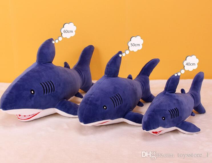 Plush toy soft shark pillow down cotton shark doll toy gift Stuffed Animals Plush Toys Multiple colors and sizes