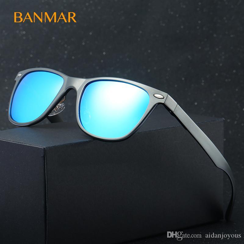 Compre Banmar Mulheres Rebite Moda Praça Polarizada Óculos De Sol De  Alumínio Magnésio Quadro Homens Óculos De Sol Feminino Óculos Acessórios  8154 De ... 5f03dbc47a
